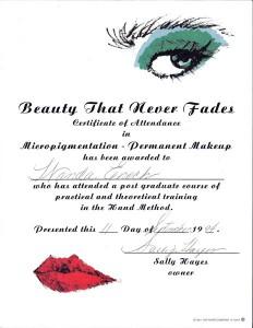 Beauty-that-never-fades-Micropigmentation-post-grad-course-1994