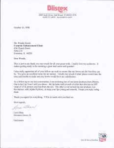 Blistex-Thanks-Letter-1998