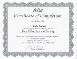 hba-Basic-Esthetic-Machine-Training-2000