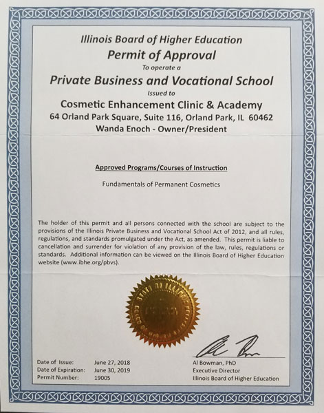 IL-vocational-training-certificate - Cosmetic Enhancement Clinic